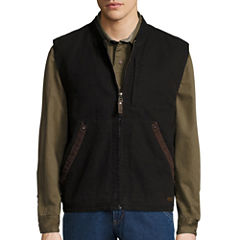 Smith Sherpa Lined Duck Canvas Vest-Regular