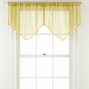 Airy Sheer Rod-Pocket Ascot Valance