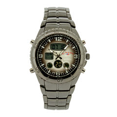 U.S. Polo Assn.® Mens Gray Stainless Steel Analog/Digital Watch