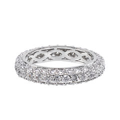 CZ by KENNETH JAY LANE Cubic Zirconia Pavé Domed Band