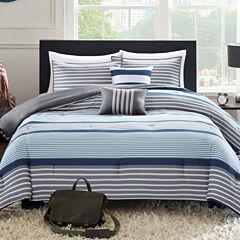 Intelligent Design Matteo Striped Comforter Set