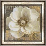 White Flower Framed Wall Art