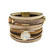 Arizona White Crystal Bangle Bracelet