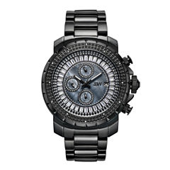 JBW Black Ion-Plated Stainless Steel Titus Mens Black Bracelet Watch-J6347d