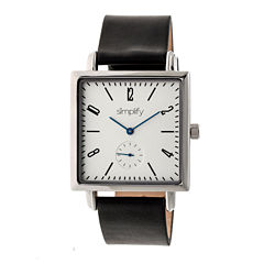 Simplify Mens Black Strap Watch-Sim5001