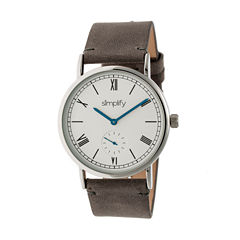 Simplify Mens Gray Strap Watch-Sim5103