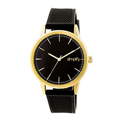 Simplify Mens Black Strap Watch-Sim5203