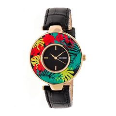 Bertha Womens Black Strap Watch-Bthbr6605
