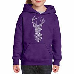 Los Angeles Pop Art Types Of Deer Long Sleeve Sweatshirt Girls