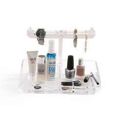 Mind Reader Acrylic 9 Compartment Jewelry Stand Organizer
