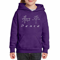 Los Angeles Pop Art Chinese Peace Symbol Long Sleeve Sweatshirt Girls