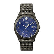 Timex® Mens Black & Blue Expansion Band Watch