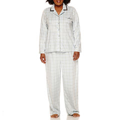 Earth Angels Fleece Pant Pajama Set-Plus
