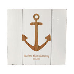 Cathy's Concepts Personalized Rustic Anchor Wooden Wall Art