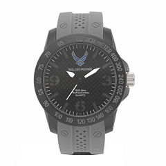 Wrist Armor U.S. Air Force C26 Mens Gray Strap Watch-37300004