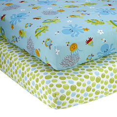NoJo® Ocean Dreams 2-pk. Fitted Crib Sheet Set
