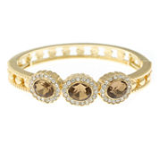 Monet® Champagne Crystal Stretch Bangle Bracelet
