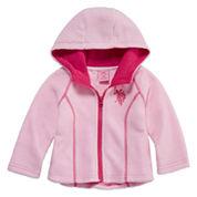 Us Polo Assn. Girls Midweight Fleece Jacket-Baby