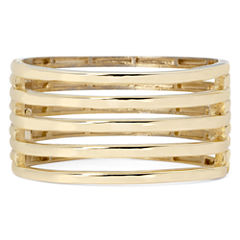 KJL by KENNETH JAY LANE Gold-Tone 5-Row Hinged Cuff Bracelet