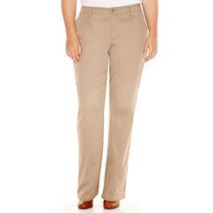 St. John's Bay® Bedford Twill Pants - Plus