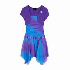 Byer® Sparkle Shrug A-Line Sharkbite Dress - Girls 7-16 and Plus