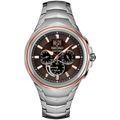 Seiko Coutura Mens Silver Tone Bracelet Watch-Ssc628
