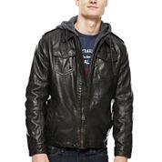 Levi's® Hooded Faux-Leather Trucker Jacket