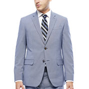 JF J. Ferrar® Blue Pattern Jacket - Slim Fit