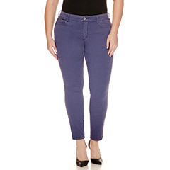 Arizona High-Rise Twill Jeggings - Juniors Plus