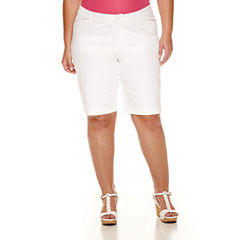 St. John's Bay® Twill Bermuda Shorts - Plus