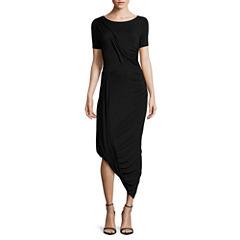 Worthington® Short-Sleeve Draped Weekend Dress - Tall