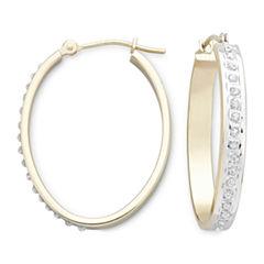 Diamond Fascination™ 14K Yellow Gold Hoop Earrings