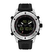 Bulova® Marine Star Mens Black Silicone Strap Watch 98C119