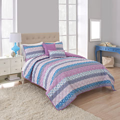 Martex Boho Stripe Quilt Set