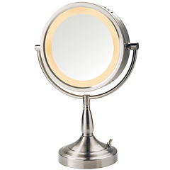 Jerdon Style Halo-Lighted Tabletop Mirror