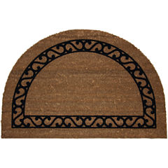 Koko Flocked Iron Gate Coir Wedge Doormat