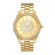 JBW Mondrian Womens Diamond-Accent Gold-Tone Stainless Steel Bracelet Watch J6303B