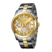 JBW Delano Mens 1/5 CT. T.W. Diamond Two-Tone Stainless Steel Watch JB-6218-C
