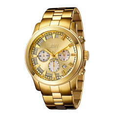 JBW Delano Mens 1/5 CT. T.W. Diamond Gold-Tone Stainless Steel Watch JB-6218-E