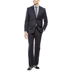 Collection by Michael Strahan Black Herringbone Suit- Classic Fit