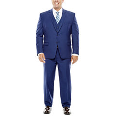 Collection by Michael Strahan Blue Herringbone Suit Separates - Big & Tall