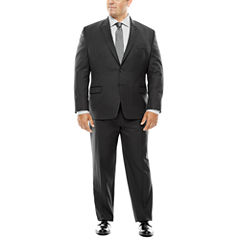 Collection by Michael Strahan Black Herringbone Suit Separates - Big & Tall