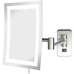 Jerdon Style Direct-Wire LED-Lighted Rectangular Mirror