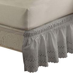 EasyFit Wrap-Around Eyelet Ruffled Bedskirt