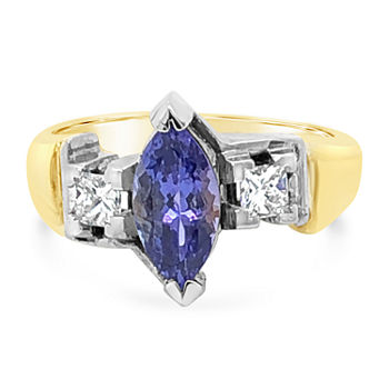 Limited Quantities Le Vian Grand Sample Sale Ring Featuring Blueberry Tanzanite Set In 18k Two Tone Gold