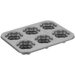 Cake Boss™ Specialty Bakeware 6-Cup Flower Nonstick Cakelette Pan
