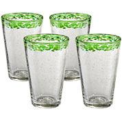 Mingle Set of 4 Glass Tumblers