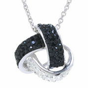 Sparkle Allure Crystal Silver Over Brass Pendant