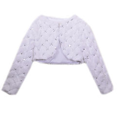 Bonnie Jean Faux Fur Jacket Long Sleeve A-Line Dress - Baby Girls