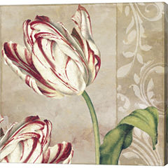Peppermint Tulips I Gallery Wrapped Canvas Wall Art On Deep Stretch Bars